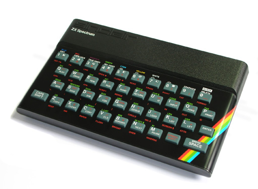 picture of a Sinclair ZX Spectrum 48k computer